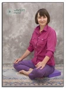 Mindfulness position sitting cross legged on floor