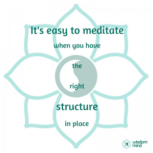Learning to meditate is easy when you have the right structure in place