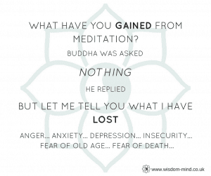 What you lose with meditation
